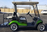 The wheels make a big difference in our custom used carts!