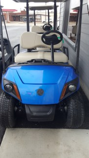 This 2018 cart in Aqua Blue was purchased by some die-hard Cubs fans.