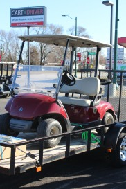 We delivered this used cart to someone who lives on a golf course.