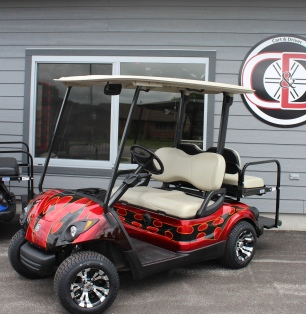 2013 Yamaha Drive AC Red Tribal