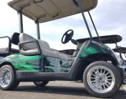 This 2013 electric cart was customized to look like new.